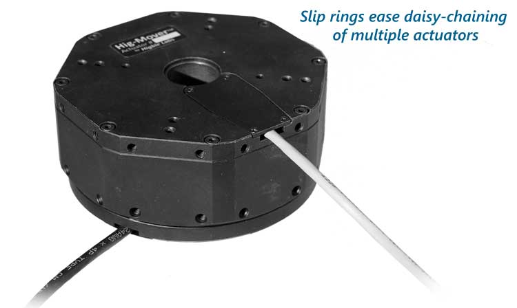 Hig-Mover smart rotary stage slip rings